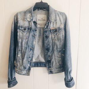 Hollister Distressed Jean Jacket Size Medium